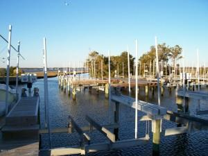 Protected Slip with Lift at Harkers Island Boating Club