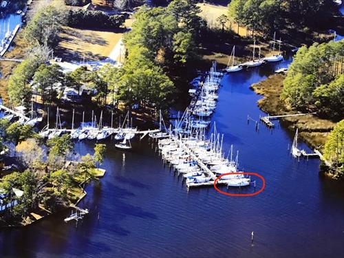 Deep Water Slip Available in Oriental NC Sea Harbour Marina