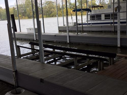 Private covered 48' boat slip at Harbor Town Marina for sale or rent