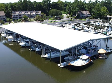 Covered Boat 45' Slip for Rent 45' at Bradley Creek in Wilmington, North Carolina