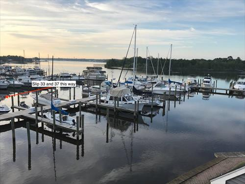 35' boat slips for sale - Spinnakers Cove Marina - Toms River, NJ