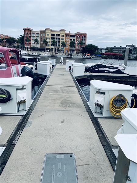 32' x 12' Wet Slip for sale - off Gordon River Naples Florida
